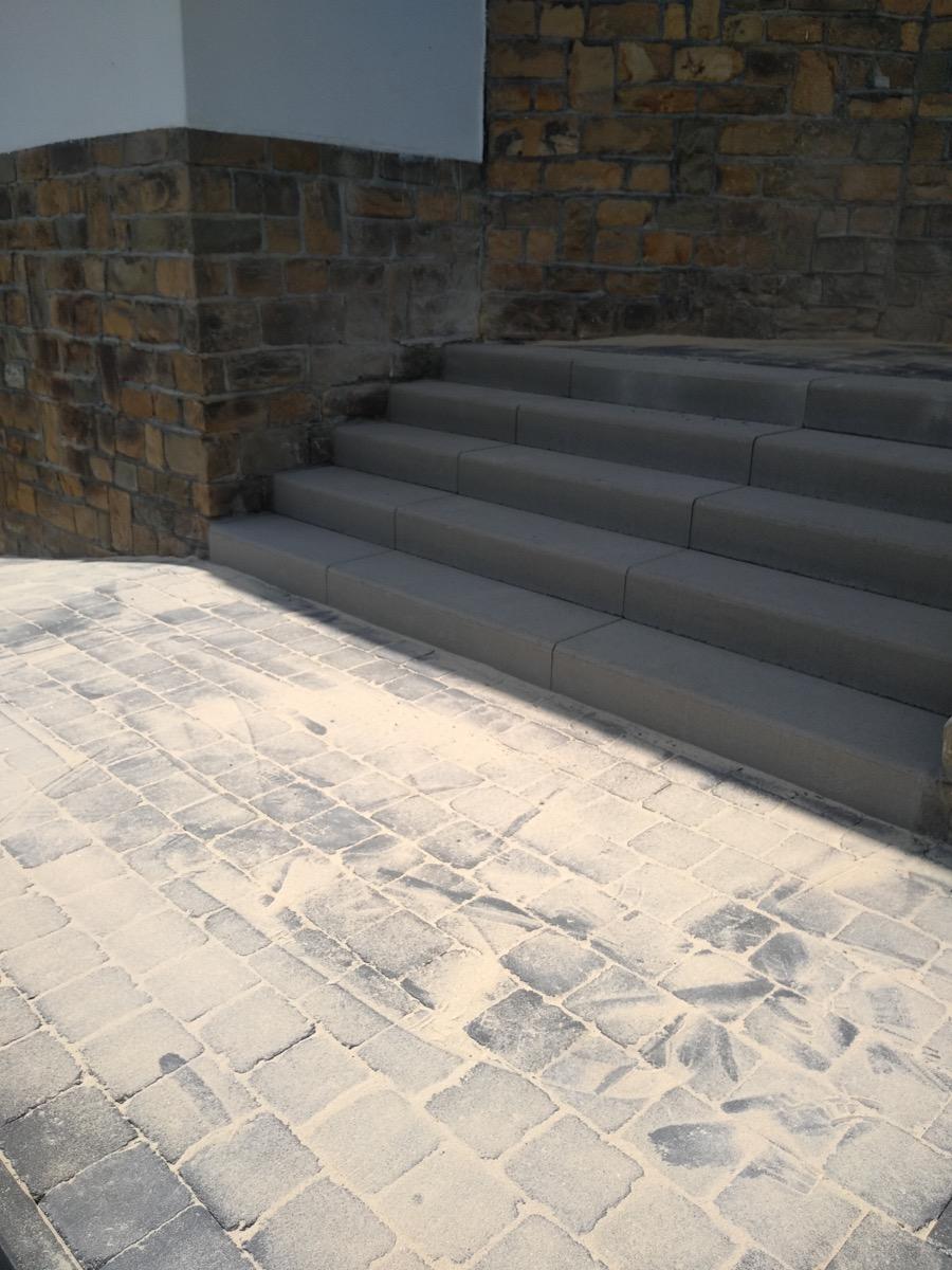 Pavage de terrasse et escaliers