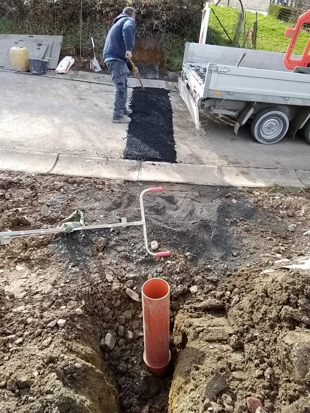 Raccordement à l'égout pour des appartements