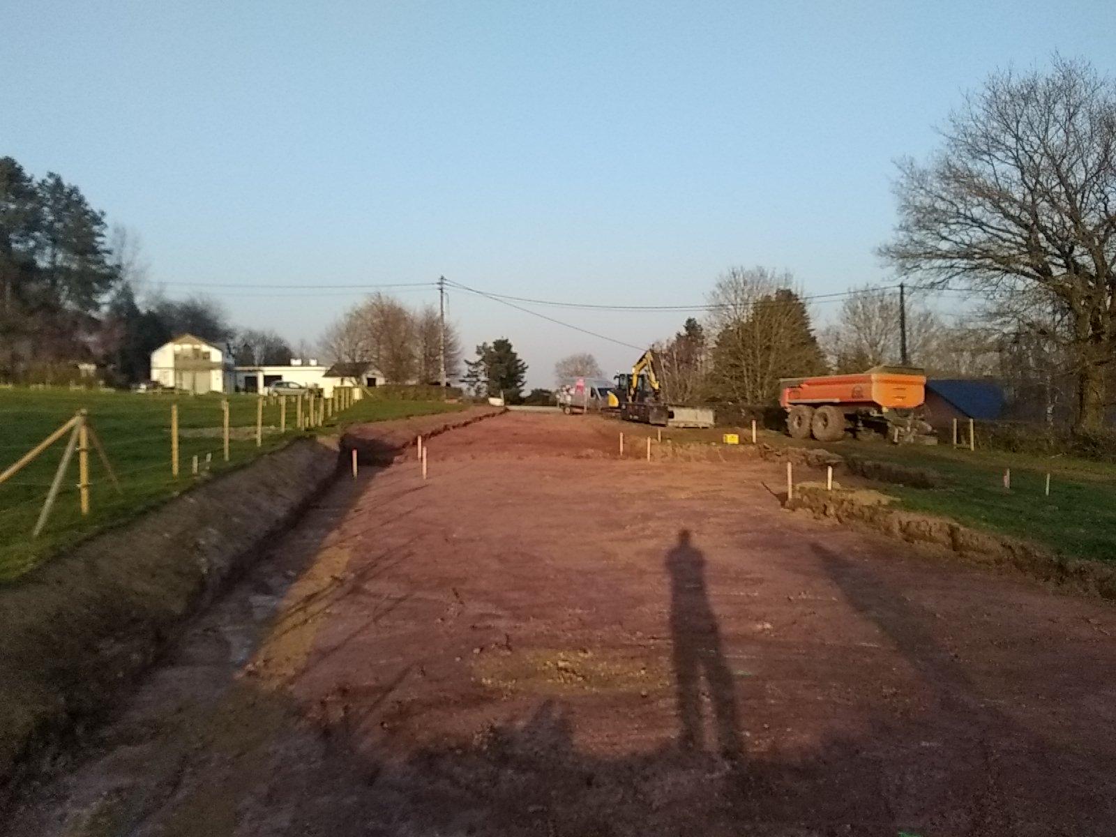 Travaux de terrassement et empierrement
