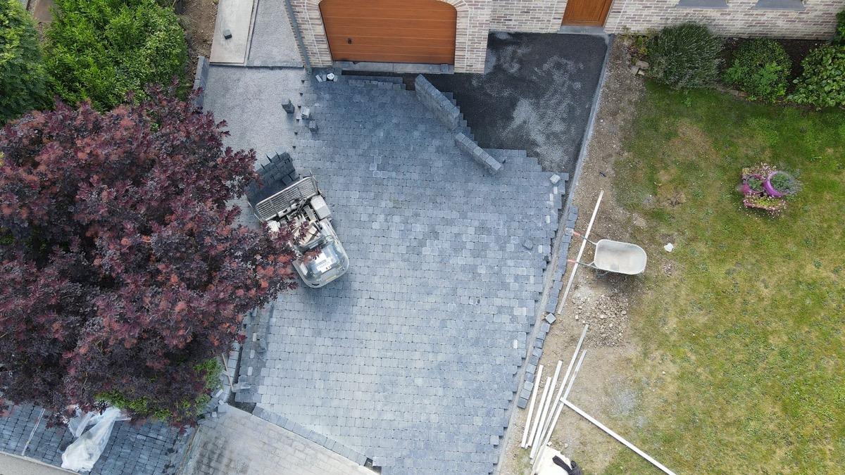 Pavage allée de garage et terrasse